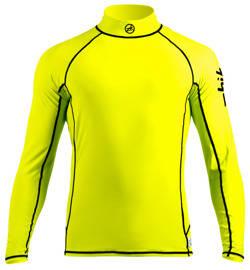 Bluzka Lycra Zhik Spandex Man długi rękaw - żółty